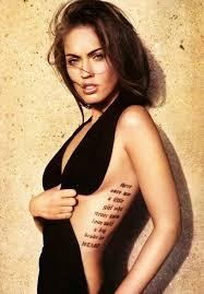 Megan Foxs Side Tattoo