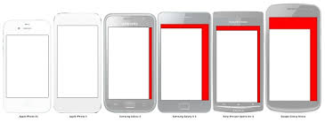 iPhone 5 Screen Size VS Huge Android Phones Display parison