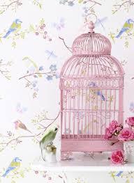 Birdie Cage Birdcagepink Birdbirds Wallpapershabby Chic Style