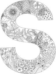 Click To See Printable Version Of Letter S With Plants Coloring Page