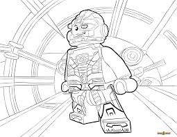 LEGO Cyborg Coloring Page Printable Sheet