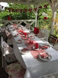 rot weiß deko deko deko ideen tischdekoration