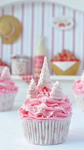 Wow Dont Know Who Made These But So Pretty Pink Christmas Tree Cupcakes