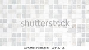 White Mosaic Tiles Texture Background And Image Photo