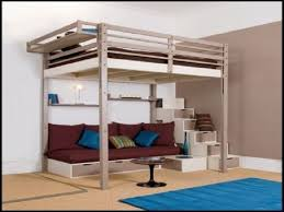 Queen Loft Bed Plans by Bedroom Lofted Queen Bed Ideal For Space Saver U2014 Rebecca Albright Com
