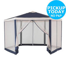 Argos 6 X 10 Shed home square garden gazebo with steel frame 10 x 10ft from