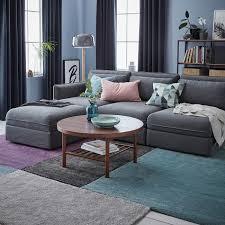 stoense rug low pile medium gray shop here ikea