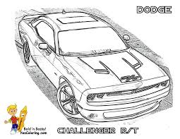 Coloring Dodge Page Challenger Car