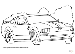 Click The Ford Mustang Coloring Pages