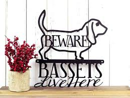Dog Wall Art Best Images On Metal Panels Basset Hound