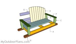swing bench plans myoutdoorplans free woodworking plans and
