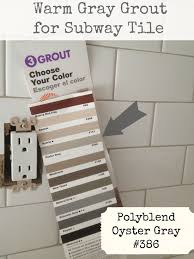 Grey Tiles White Grout by Subway Tile Grout Oyster Gray