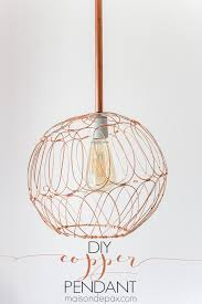 DIY Copper Pendant from Copper Pipe and Basket Maison de Pax