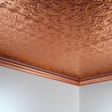 Fasade Thermoplastic Ceiling Tiles by Fasade Classic Coffer Cherry 2 Foot Square Lay In Ceiling Tile