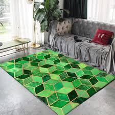 großhandel moderne gold rosa grün schwarzmetallteppiche für wohnzimmer schlafzimmer teppiche nordische geometrische muster teppich kaffeetisch