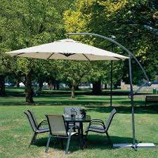 Offset Patio Umbrella With Mosquito Net by Outside Umbrellas