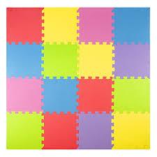 Foam Play Mats 16 Tiles Borders Kids Puzzle Playmat
