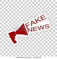 Fake News Sticker Badge With Megaphone Icon Flat Vector Illustration On Transparent Background