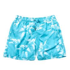 100 Coco Republic Sale Mens Floral Shade Board Shorts In Turquoise