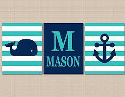 Amazon Nautical Nursery Décor Whale Nursery Wall Art Navy