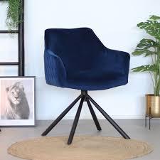 esszimmerstuhl samt furtado 180 drehbar blau kauf auf rechnung