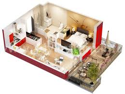 100 Small One Bedroom Apartments Glamorous Apartment Floor Plans 3d Images