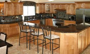 Kitchen Floor Tile Ideas With Dark Cabinets Tiles And Backsplash Images