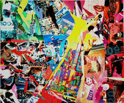 stéphane jouet artiste peintre châteaubriant collage sur toile