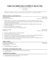 Resume Truck Driver Position Sample For Delivery Driving Job Description Ups