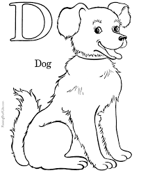 Printable Alphabet Coloring Pages Dog