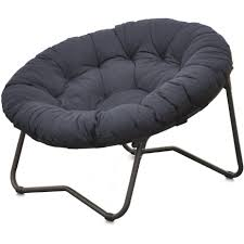 Pier One Round Chair Cushions by Chair Mainstays Folding Papasan Navy Walmart Com Cover Frame