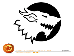Toothless Pumpkin Carving Patterns by Game Of Thrones House Of Stark Pumpkin Carving Template Free