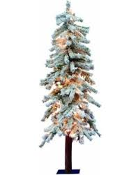 Vickerman Pre Lit Christmas Tree Flocked White One Size 734205037546