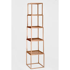 Rose Gold Stackable Etagere Open Bookcase The Home Depot