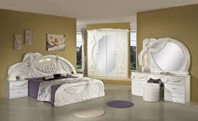 White Italian Classic Bedroom Set Made In Italy