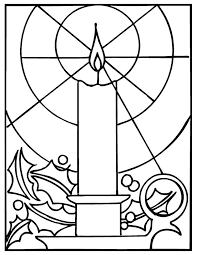 Images Of Candles Coloring Pages