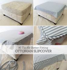 1 Tip For Better Fitting Ottoman Slipcovers | Our Home | Ottoman ... What Is A Club Chair Armchair Patio With Ottoman Chairs For Sale Stretch Pique One Piece Slipcover Subrtex Rhombus Jacquard Universal Oversized Storage Cover Amazoncom Vogue 1730 Sofa Covers Designed By Mario Baby Nursery Rocker Rocking Glider Stool Seat Soft Cushion Cedar Futon And Set Fniture Yabird 52 Custom Slipcovered Swivel Got Sam Moore Target Prairienotesco Grey Modern Ftstool End Childrens Ding Truly Pottery Barn Slipcovers Cheap Inexpensive And Half