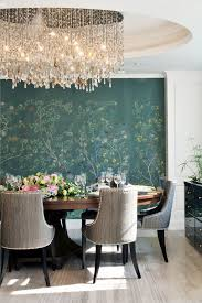 Diy Chandelier Dining Room Traditional With Hand Painted Wall Art Wallpaper De Gournay Chairs