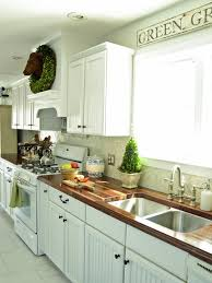 Country Kitchen With White Cabinets