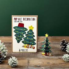 3D Christmas Greeting Card Handmade Pop Up Greeting Card With
