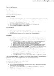 Banking Resume Sample Entry Level Personal Banker