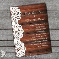 New Rustic Wedding Invitations With Lace Or Affordable Wood Invites 45