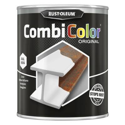 Rust-Oleum High Gloss CombiColor Paint - Aluminium White, 750ml