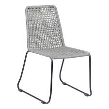 ZUO Carlo Black And Dark Gray Metal Outdoor Dining Chair (2-Pack) Comfortcare 5piece Metal Outdoor Ding Set With 52 Round Table T81 Chair Provence Hampton Bay Mix And Match Stack Patio 49 Amazoncom Christopher Knight Home Lala Grey 7 Chairs Of 4 Tivoli Tub Black Merilyn Rope Steel Indoor Beige Washington Coal Click Pc Stainless Steel Teak Modern Rialto Rectangle 6