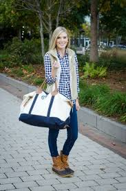 Life With Emily Blogger Travel Bag Maxi Duck Boots Vest Winter