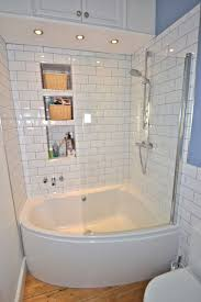 Ceramic Tile For Bathroom Walls by Simple White Small Bathroom Design With Corner Bath Tub And White