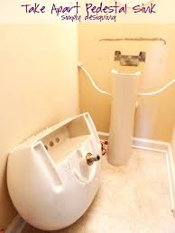 18 Inch Width Pedestal Sink by How To Install A New Bathroom Faucet In A Pedestal Sink Moendiyer