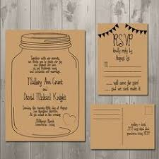 Rustic Mason Jar Wedding RSVP Cards Cute Idea And Maybe I Could Do Something Creative With Them After