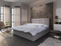 boxspringbett schlafzimmerbett liberto 160x200cm grau inkl bettkasten