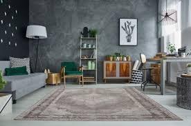 casa padrino vintage wohnzimmer teppich hellgrau 160 x 240 cm rechteckiger baumwoll teppich wohnzimmer deko accessoires
